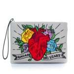 corazon pouch bags multicolor red pouch day handwork love inked front
