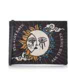 sun to moon black pouch bags black pouch day handwork love inked front