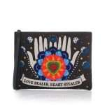 love dealer black pouch bags black pouch day handwork love inked front