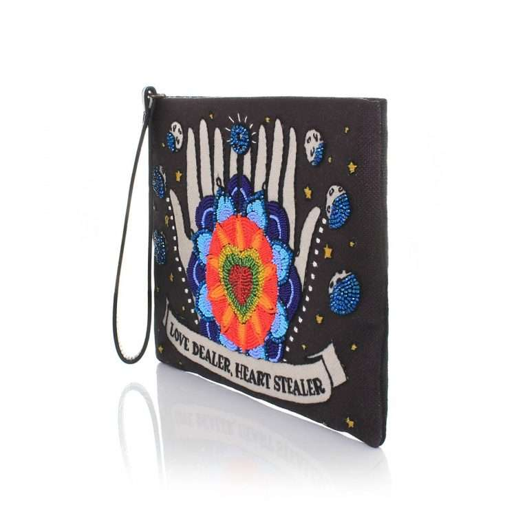 love dealer black pouch bags black pouch day handwork love inked side