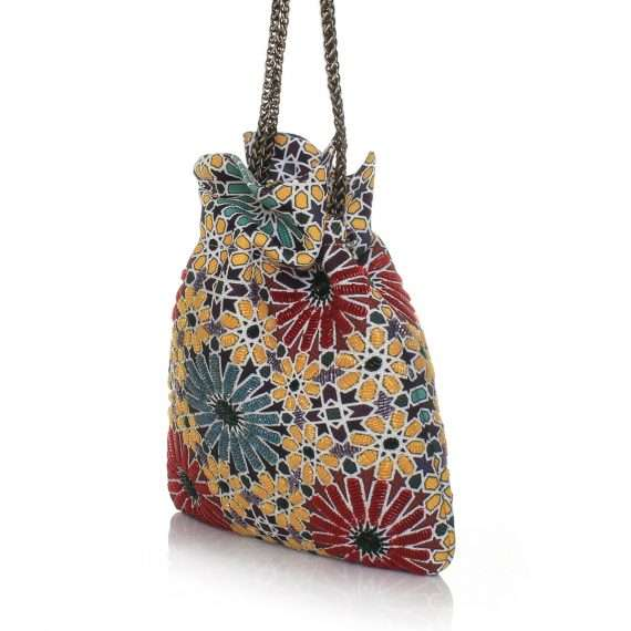 moroccan night bags multicolor night evening handwork oriental side