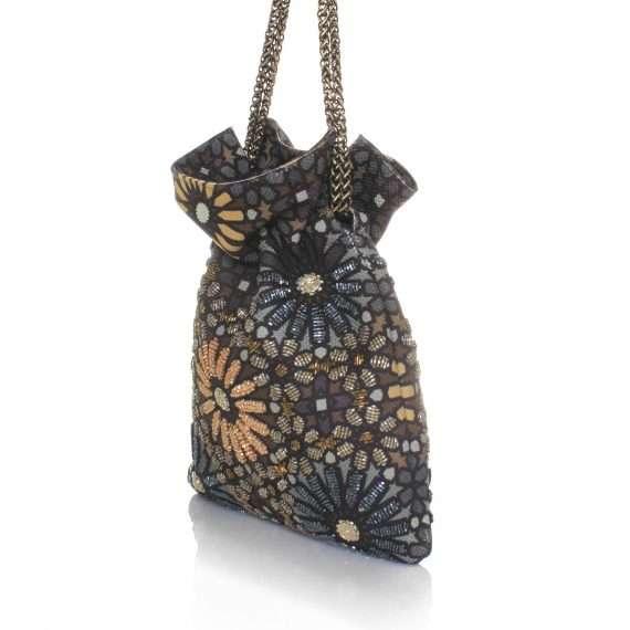 moroccan metallic night bags gold metallic night evening handwork oriental side