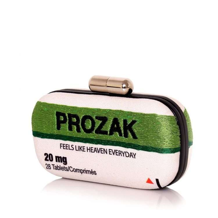 prozak box bags green box evening handwork retail therapy side