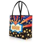 say my name lucky caba bags blue multicolor orange caba day impressions customized side