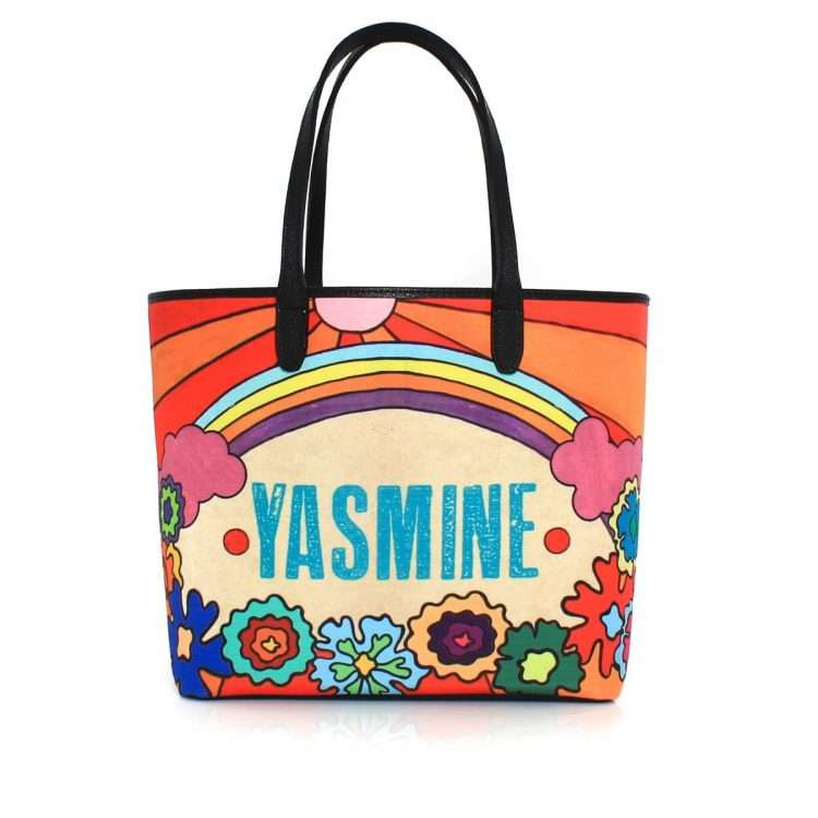 say my name rainbow caba bags multicolor caba day impressions customized front