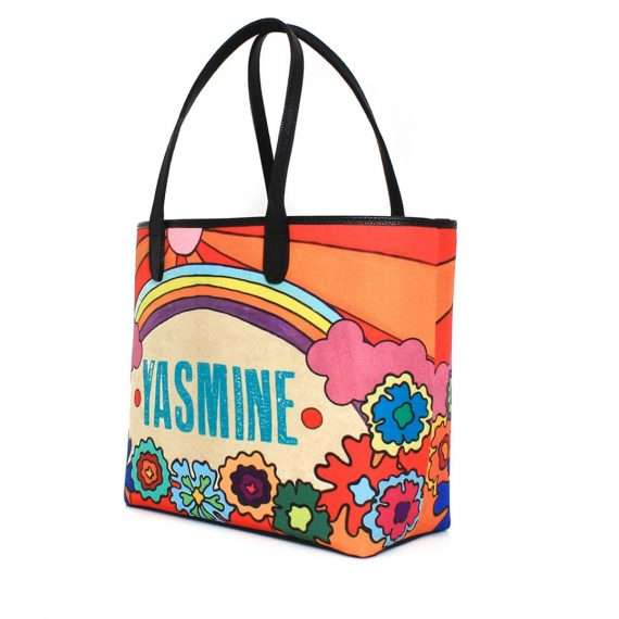say my name rainbow caba bags multicolor caba day impressions customized side