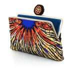 burst clutch me bags multicolor orange clutch me day handwork afrodisiac open