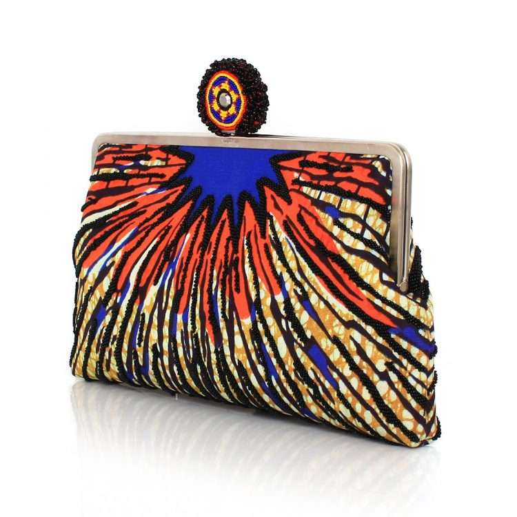 burst clutch me bags multicolor orange clutch me day handwork afrodisiac side
