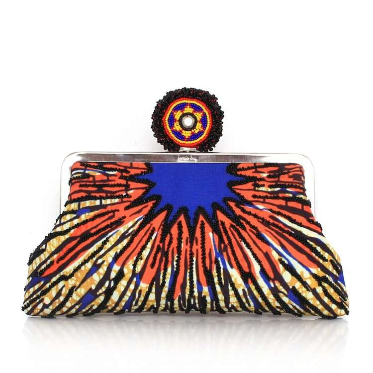 burst classic bags multicolor orange classic day evening handwork afrodisiac front