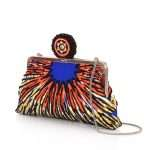 burst classic bags multicolor orange classic day evening handwork afrodisiac side