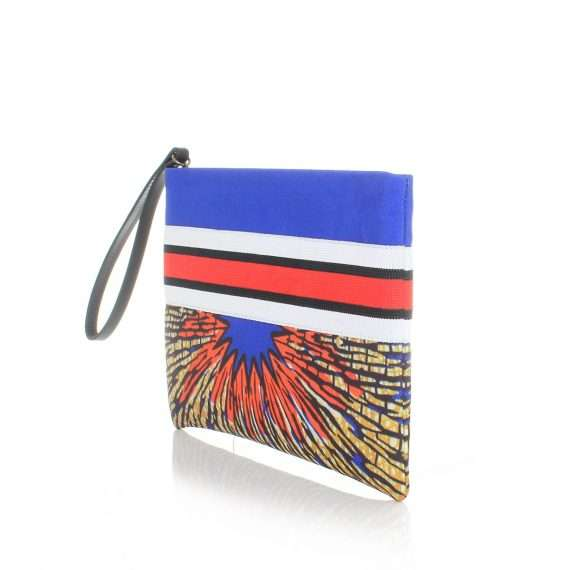 burst pouch bags blue multicolor pouch day impressions afrodisiac side