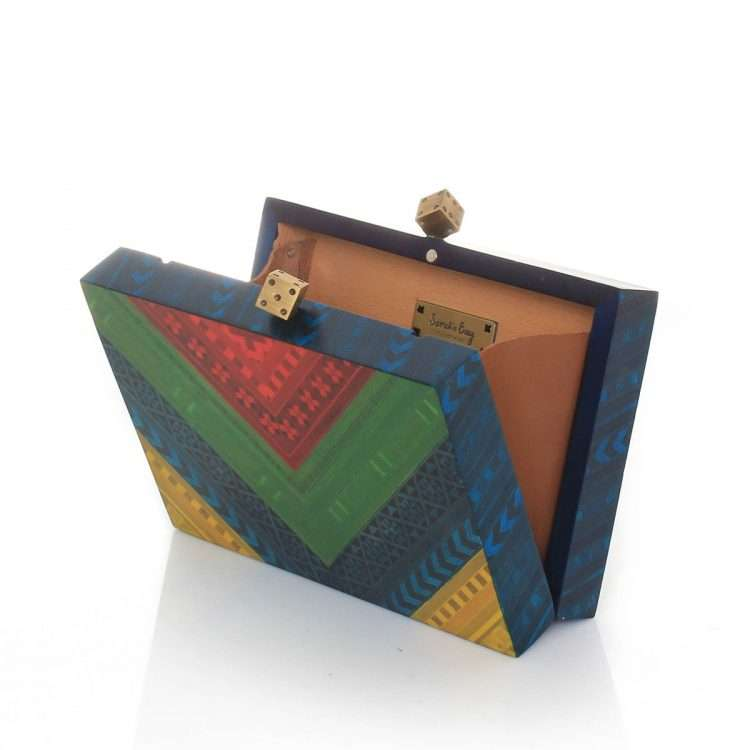 afro color marquetry bags multicolor day evening novelty afrodisiac open