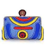 lava clutch me bags blue multicolor clutch me day handwork afrodisiac front