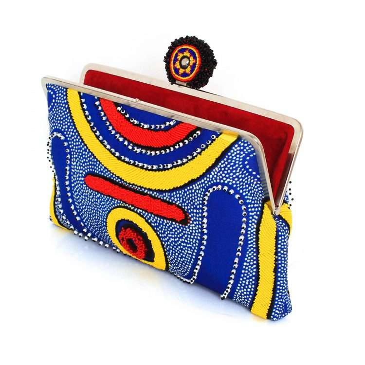 lava clutch me bags blue multicolor clutch me day handwork afrodisiac open
