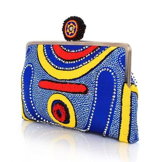 lava clutch me bags blue multicolor clutch me day handwork afrodisiac side
