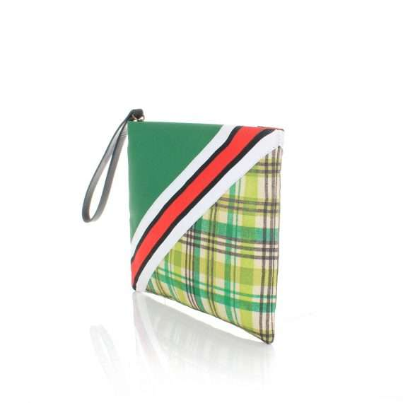 checks pouch bags green pouch day handwork afrodisiac side