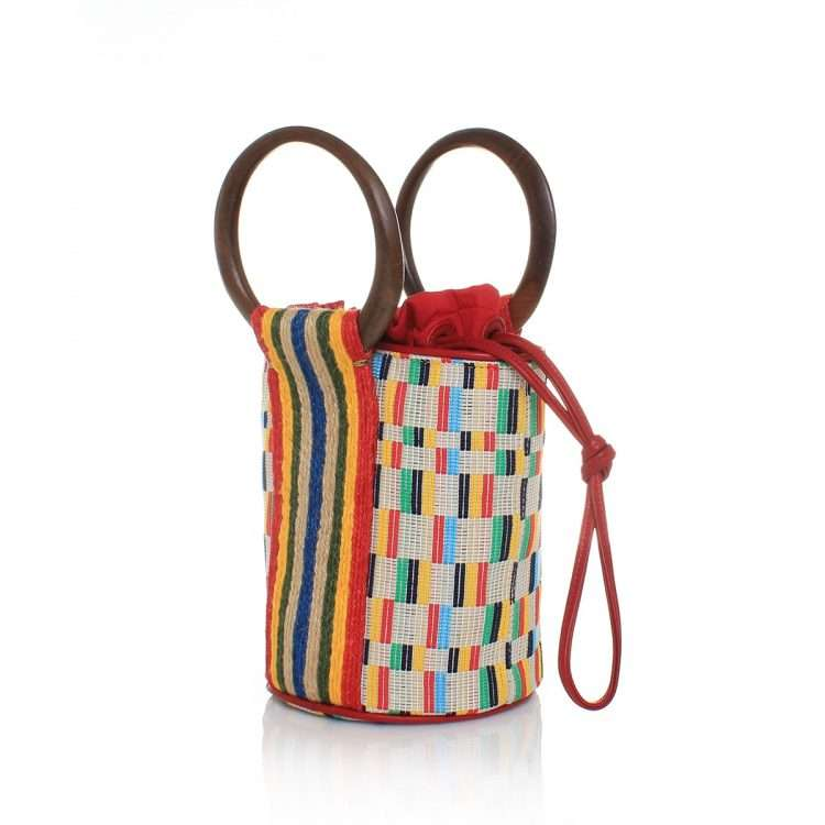 dash bucket bag bags multicolor bucket bag day handwork afrodisiac side