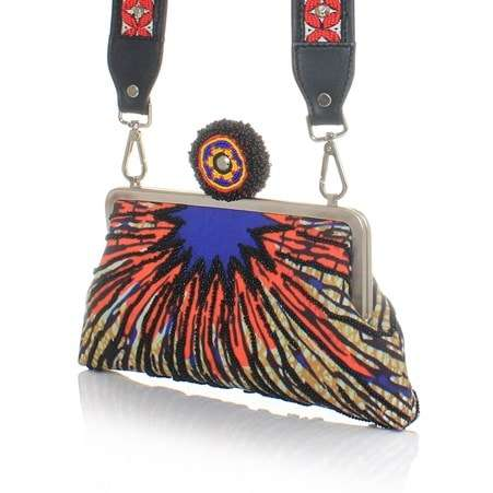 burst strap classic bags multicolor orange classic day handwork afrodisiac side