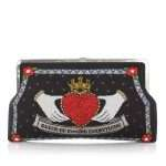 queen black clutch me bags black red clutch me day handwork love inked front