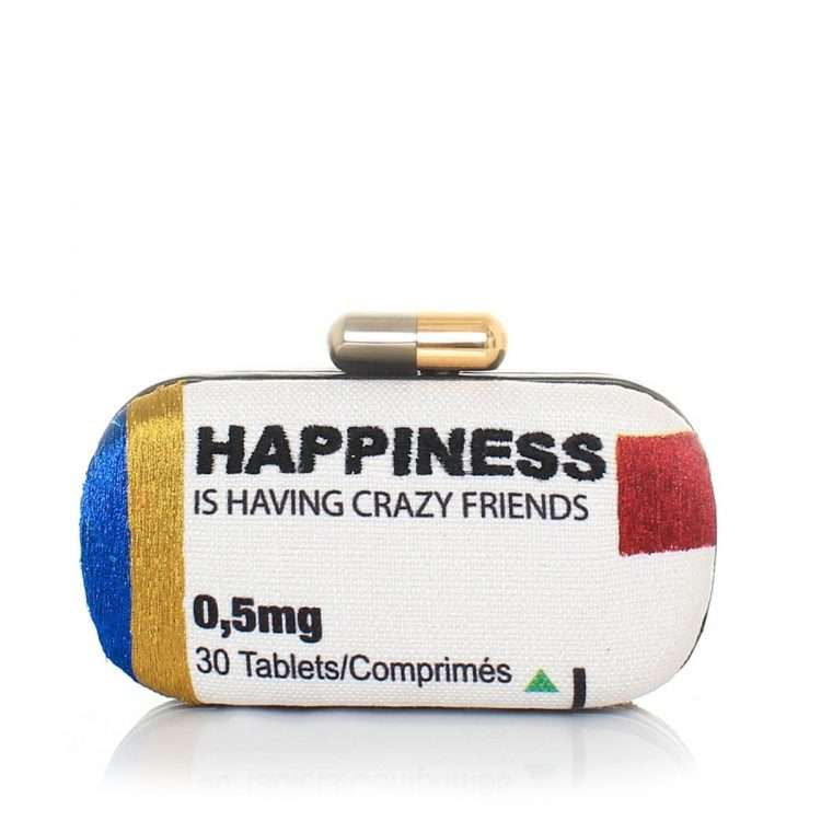 happiness box bags multicolor box evening handwork retail therapy front