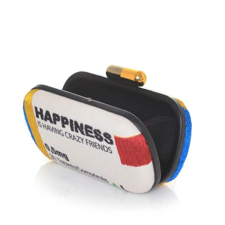 happiness box bags multicolor box evening handwork retail therapy open