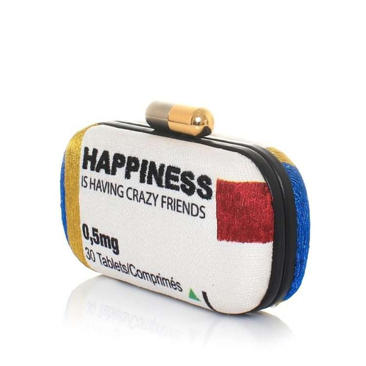 happiness box bags multicolor box evening handwork retail therapy side
