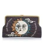 sun to moon black clutch me bags black clutch me day handwork love inked front