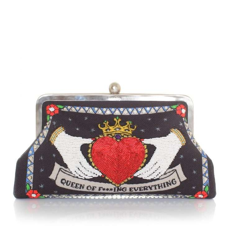 queen black classic bags black red classic day handwork love inked front