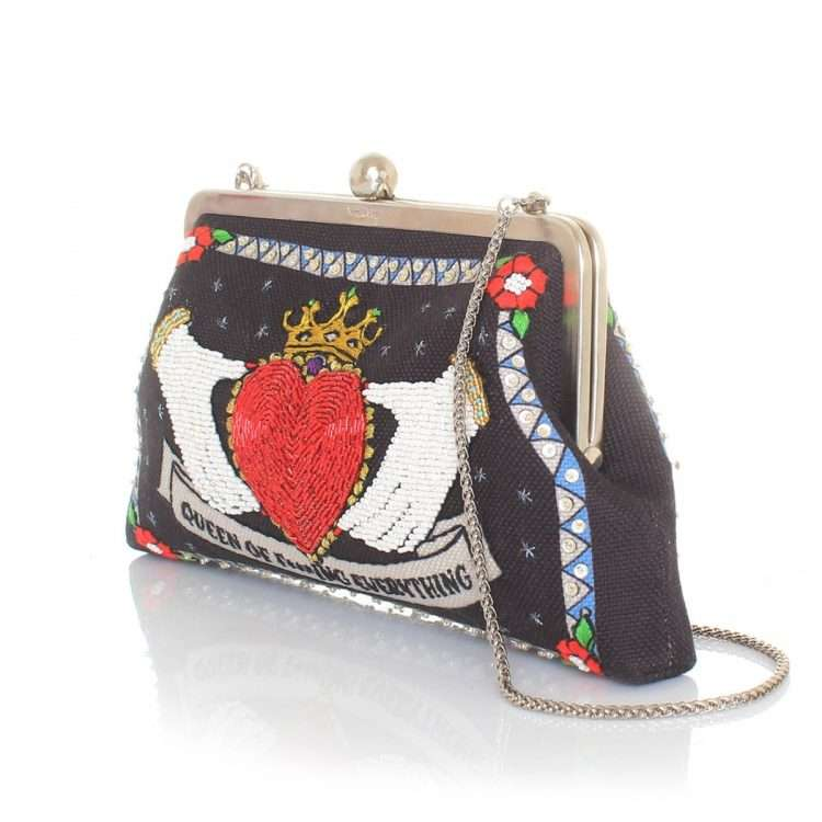 queen black classic bags black red classic day handwork love inked side