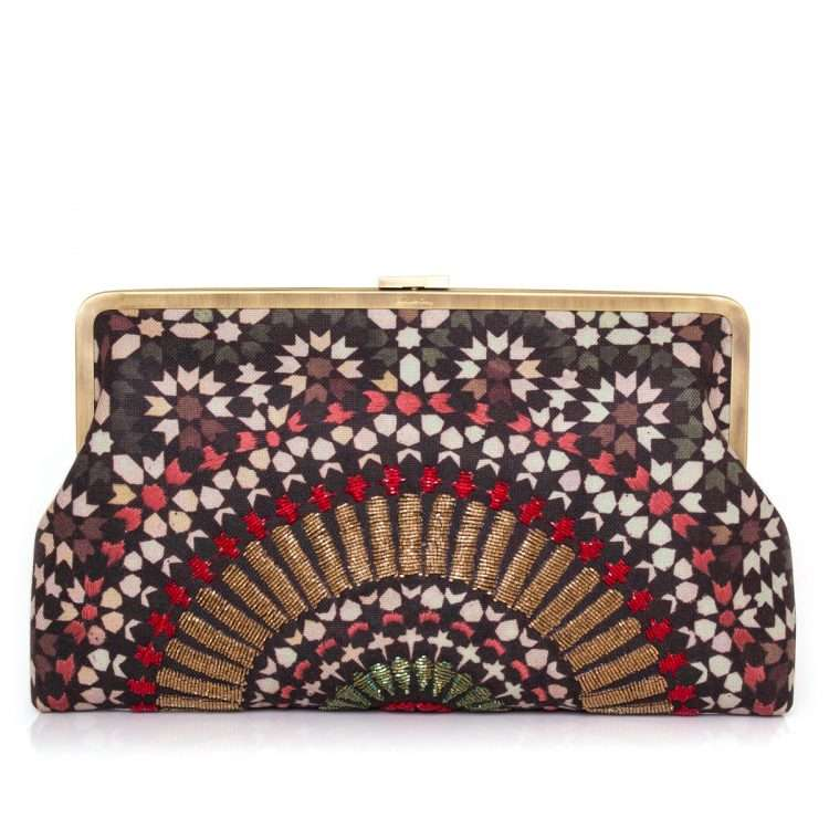 zellige ruby clutch me bags red clutch me day handwork oriental front