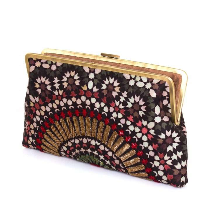 zellige ruby clutch me bags red clutch me day handwork oriental open