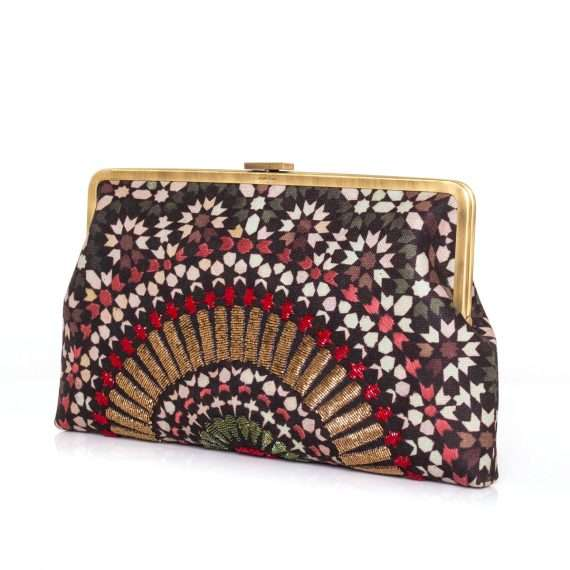 zellige ruby clutch me bags red clutch me day handwork oriental side