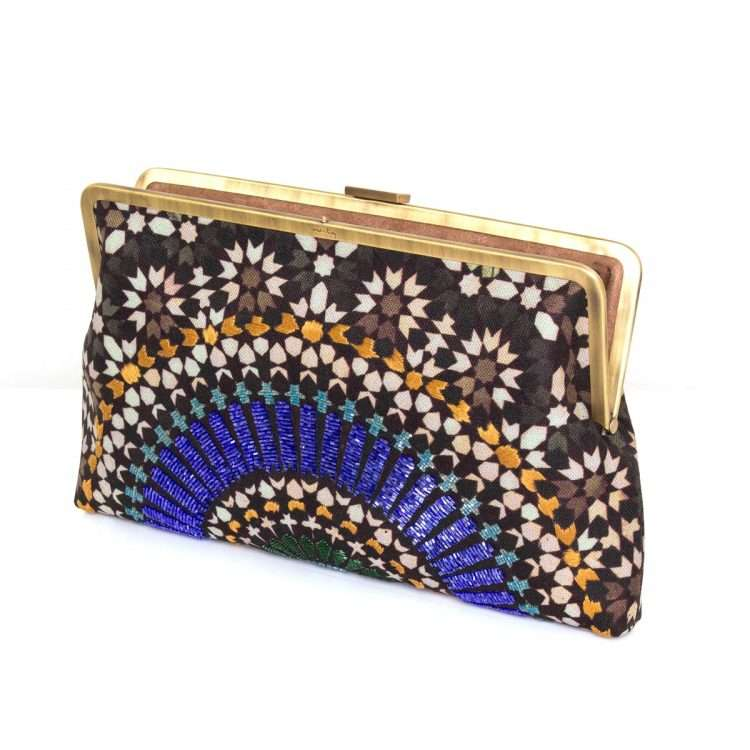 zellige sapphire clutch me bags blue clutch me day handwork oriental open