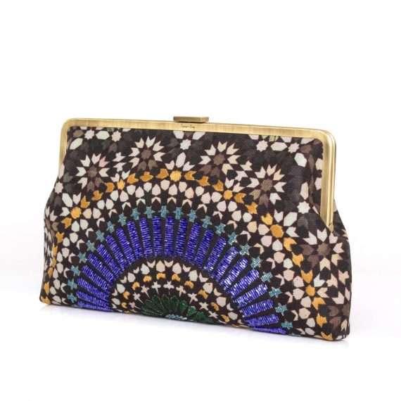 zellige sapphire clutch me bags blue clutch me day handwork oriental side