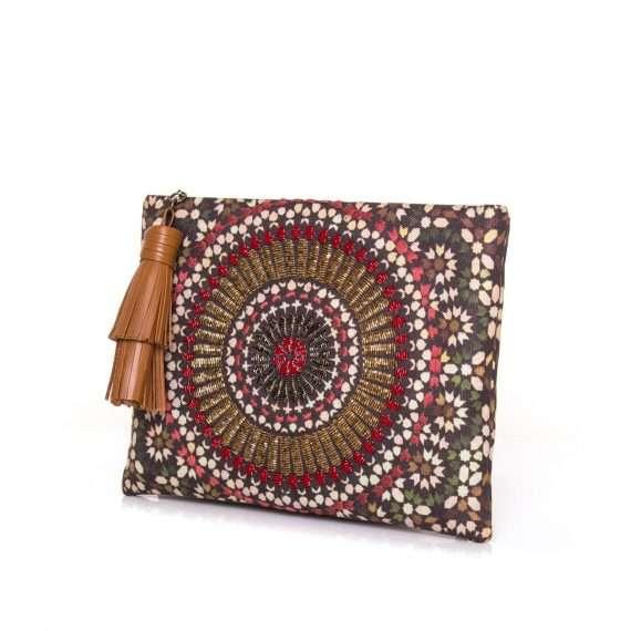 zellige ruby pouch bags metallic red pouch day handwork oriental side