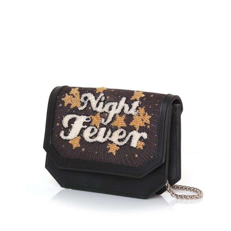 night fever belt bag bags black gold belt bag evening handwork discotheque side