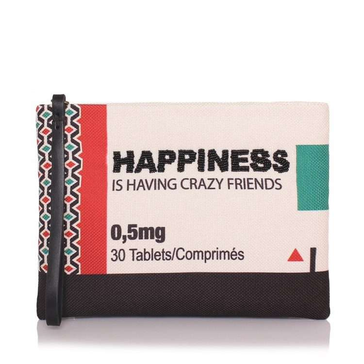 happiness pouch bags multicolor pouch day handwork retail therapy front