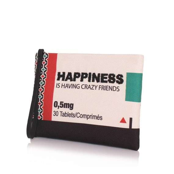 happiness pouch bags multicolor pouch day handwork retail therapy side