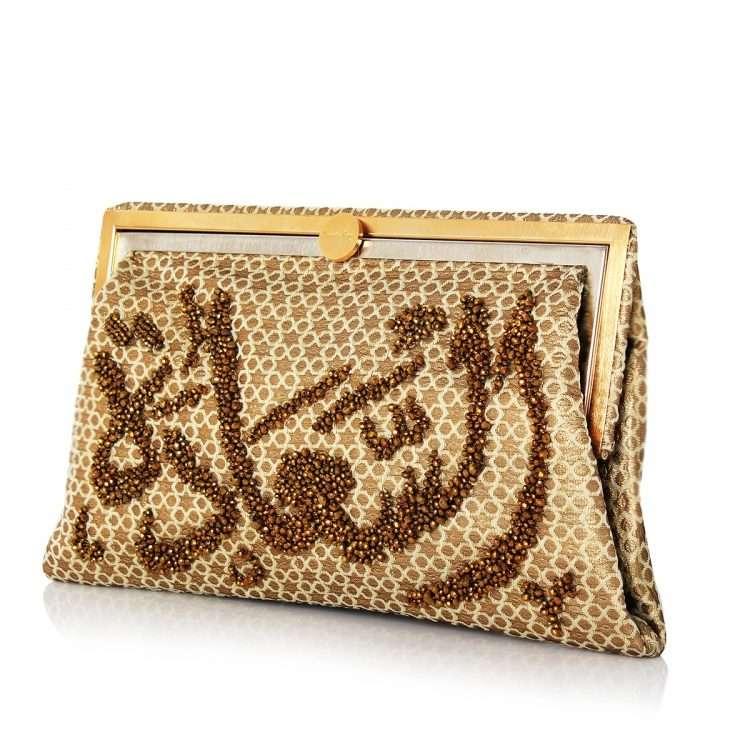 saada gold grace bags gold metallic grace day handwork oriental side