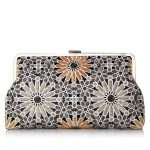 moroccan gold clutch me bags gold metallic clutch me day handwork oriental front