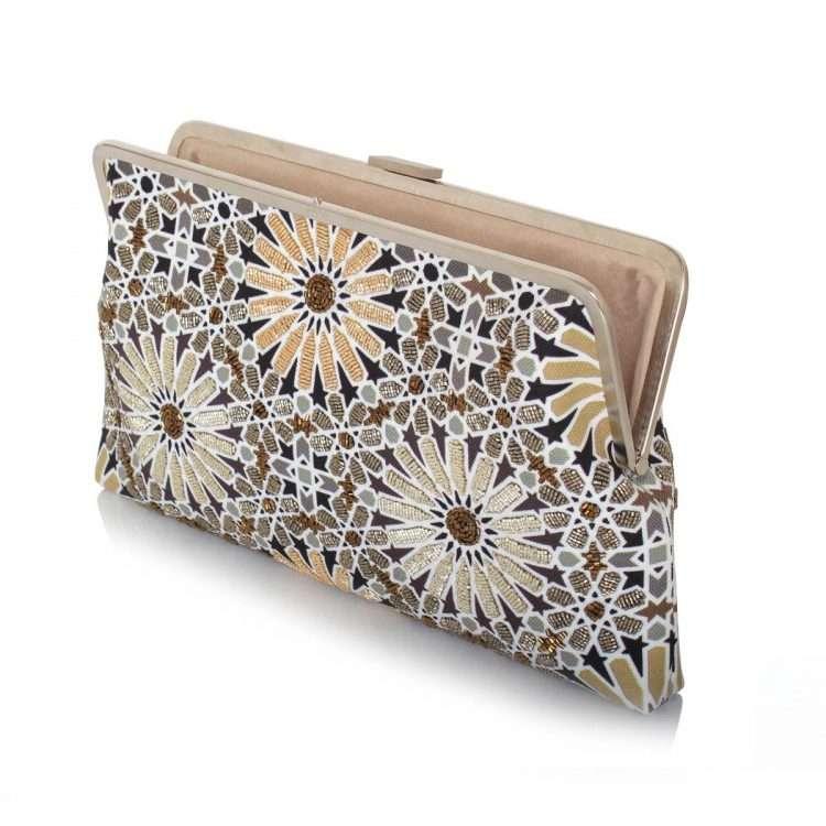 moroccan gold clutch me bags gold metallic clutch me day handwork oriental open