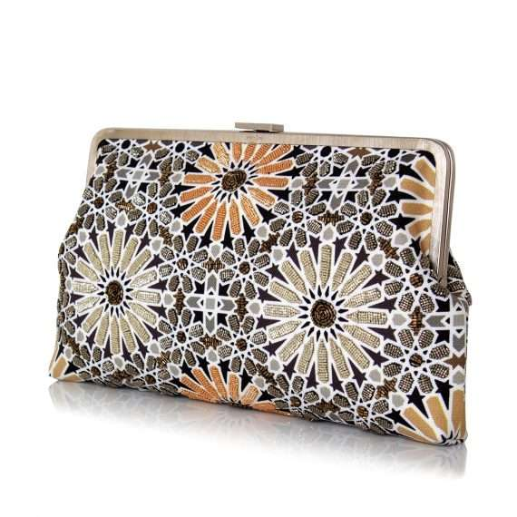 moroccan gold clutch me bags gold metallic clutch me day handwork oriental side