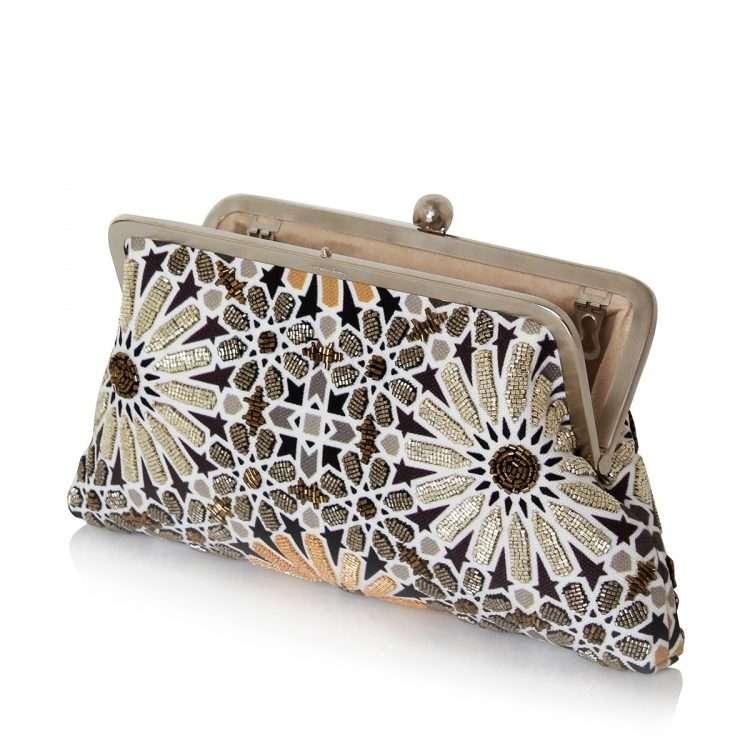 moroccan gold classic bags gold metallic classic evening handwork oriental open
