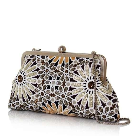 moroccan gold classic bags gold metallic classic evening handwork oriental side