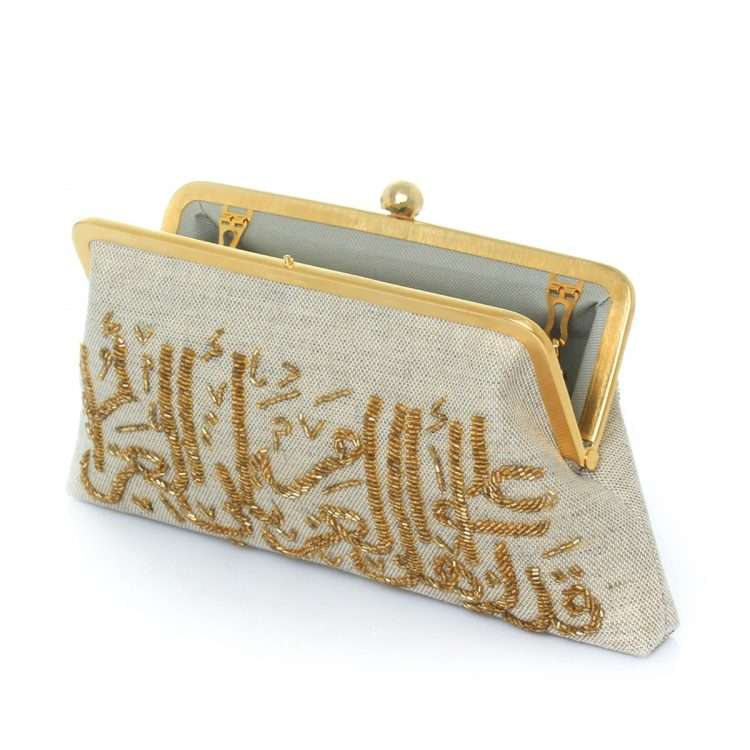 calligraphy gold classic bags gold metallic classic evening handwork oriental open