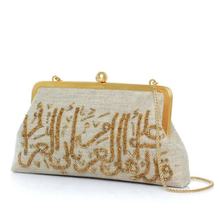 calligraphy gold classic bags gold metallic classic evening handwork oriental side