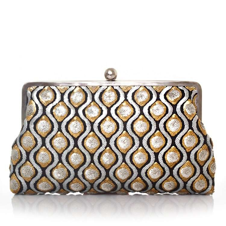 retro embossed clutch me bags gold metallic silver clutch me evening handwork essentials front