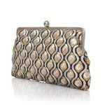 retro embossed clutch me bags gold metallic silver clutch me evening handwork essentials side