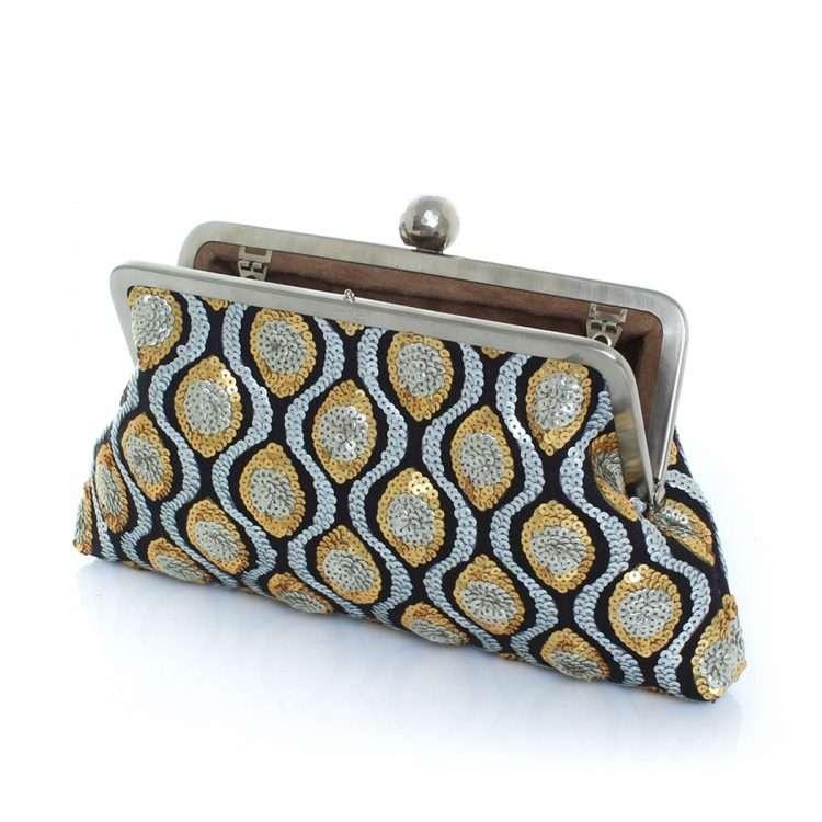retro embossed classic bags gold metallic silver classic evening handwork essentials open