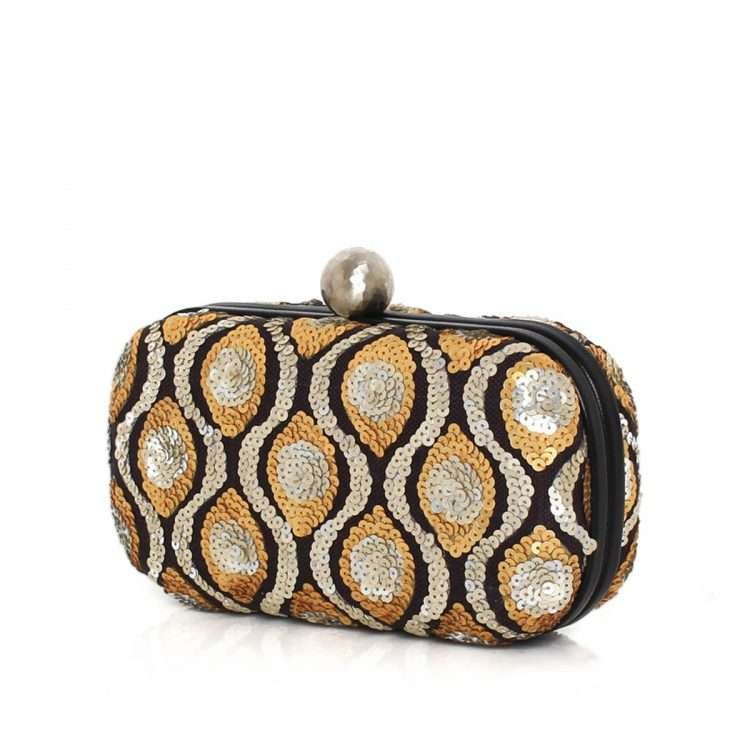 retro embossed box bags gold metallic silver box evening handwork essentials side